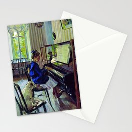 The Piano, Piano Sonata No. 14, Beethoven, a portrait painting by Sergei Vinogradov Stationery Cards