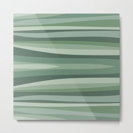 Shades of green abstract pattern Metal Print