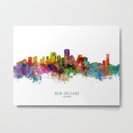 New Orleans Louisiana Skyline Metal Print