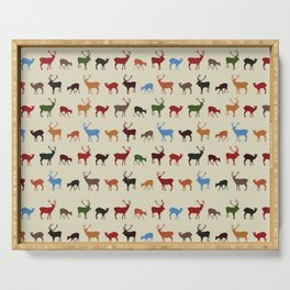 Christmass reindeer pattern Serving Tray