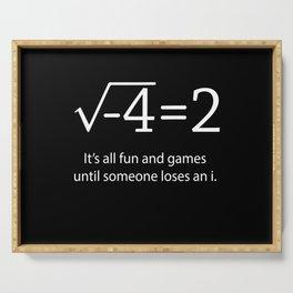Math Math Math Studying Arithmetic Formula Serving Tray