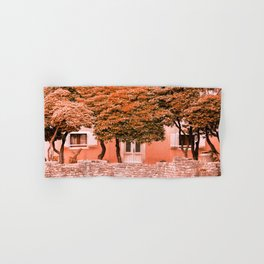 Once upon a time there was a pink house #decor #society6 #buyart Hand & Bath Towel