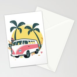Truck Under Palm Trees Stationery Cards