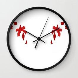 Christmas Naughty Funny Sugar Winter Gift Wall Clock