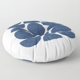 Blue navy retro scandinavian Mid century modern Floor Pillow