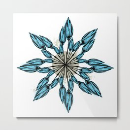 Cool and Modern Botanical Design  Metal Print
