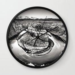 Horseshoe Bend Arizona Black and White Wall Clock