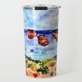 Loch Ard Gorge Watercolour Australian Landscape Travel Mug