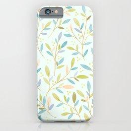 Leafy Sprigs | Peach & Green iPhone Case