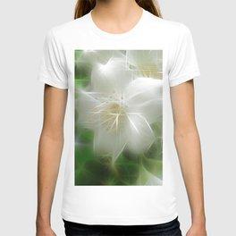 White Shiny Jasmine T-shirt