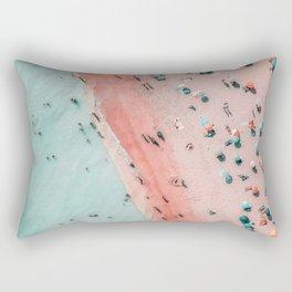 Aerial Beach Print, Ocean Art, Bondi Beach, Beach Art Print, Beach Photography, Modern Beach Lifestyle Print Rectangular Pillow