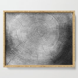 Tree Rings Serving Tray
