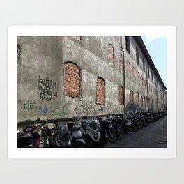 Side Street in Rome Art Print
