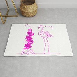 Flamingo Book Lover Rug