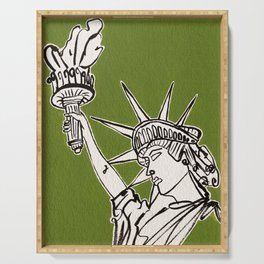 Statue of Liberty Serving Tray