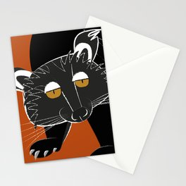 Black bear cat Stationery Cards