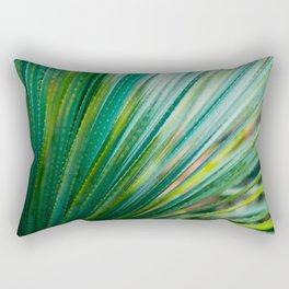 Close Up Of Aloe Vera Cactus Succulent Plant Rectangular Pillow