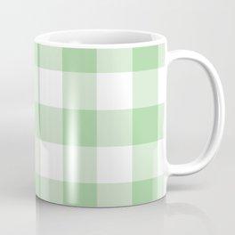 Mint Gingham Pattern Coffee Mug