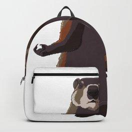 Meditating Yoga Groundhog Backpack