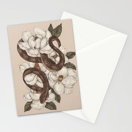 Snake and Magnolias Stationery Cards