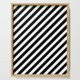Diagonal Stripes Serving Tray