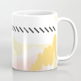 mininal century brush painted 2 Coffee Mug