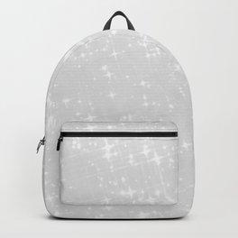 Chic elegant blush gray white luxury glitter Backpack