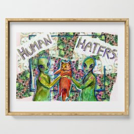 human haters Serving Tray