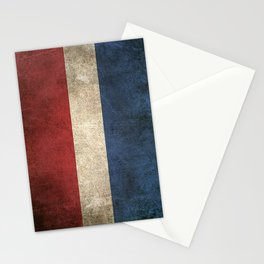 Old and Worn Distressed Vintage Flag of The Netherlands Stationery Cards
