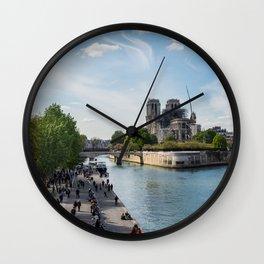 Notre Dame de Paris after the fire Wall Clock