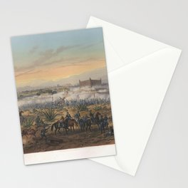Nebel & Bayot - The Mexican-American War 09: Attack of the Casa Mata, Molino del Rey (1851) Stationery Cards