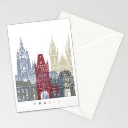 Prague skyline poster Stationery Cards
