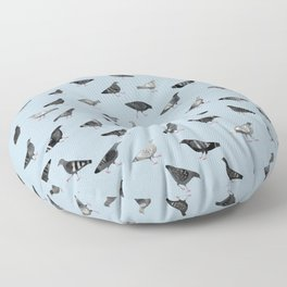Pigeons Doing Pigeon Things Floor Pillow