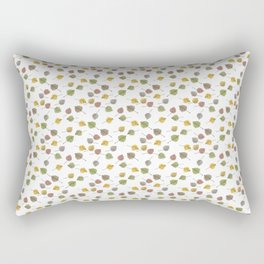 Small Colorado Aspen Tree Leaves Hand-painted Watercolors in Golden Autumn Shades on Clear Rectangular Pillow