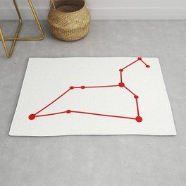 Leo (Red & White) Rug