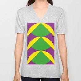Of course those are Green Beans coming out from Yellow Shells. Happening in a Purple River. Unisex V-Neck