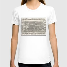 Vintage Map of Jersey City NJ (1883) T-shirt