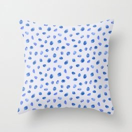 Blue vibes #3    watercolor Throw Pillow
