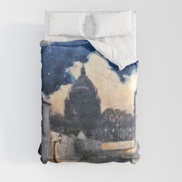 Eugene Grasset - Starry night in Montmartre - Digital Remastered Edition Comforters