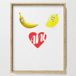 Banana Mango fruit fruit sweet vegan funny gift Serving Tray