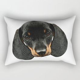 Dachshund baby head, dogs, baby animals Rectangular Pillow