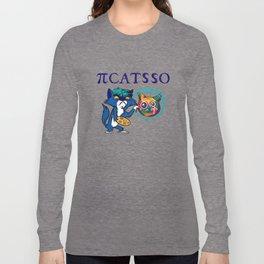 Cat Art PiCATSso Kitten Domestic Cat Pets Cats Long Sleeve T-shirt