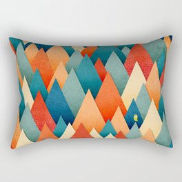 070 – deep into the autumn forest texture I Rectangular Pillow