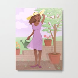 Garden Gwen Metal Print
