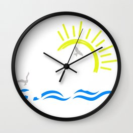 River Junkie On the River Gift Wall Clock