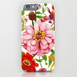 Zinnia Wildflower Floral Painting iPhone Case