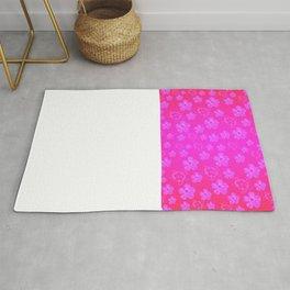 Pink Hibiscus And Honu Turtles Rug