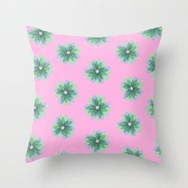 Geo Spring Flowers 03 Throw Pillow