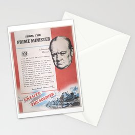 Reprint of Winston Churchill British wartime poster. Stationery Cards