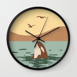 Orca Killer whale art Wall Clock